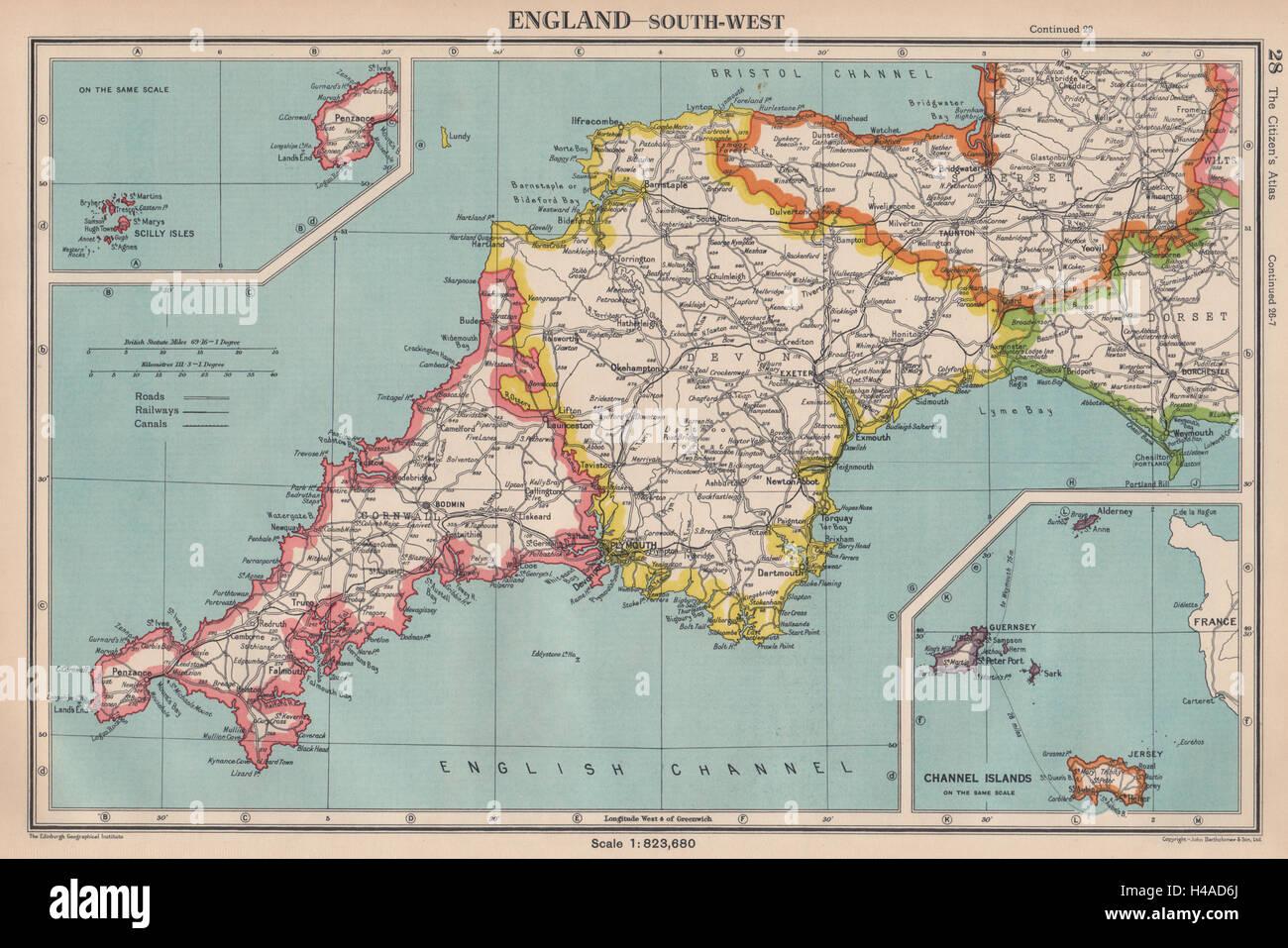 Map Uk Cornwall Map Uk Cornwall SOUTH