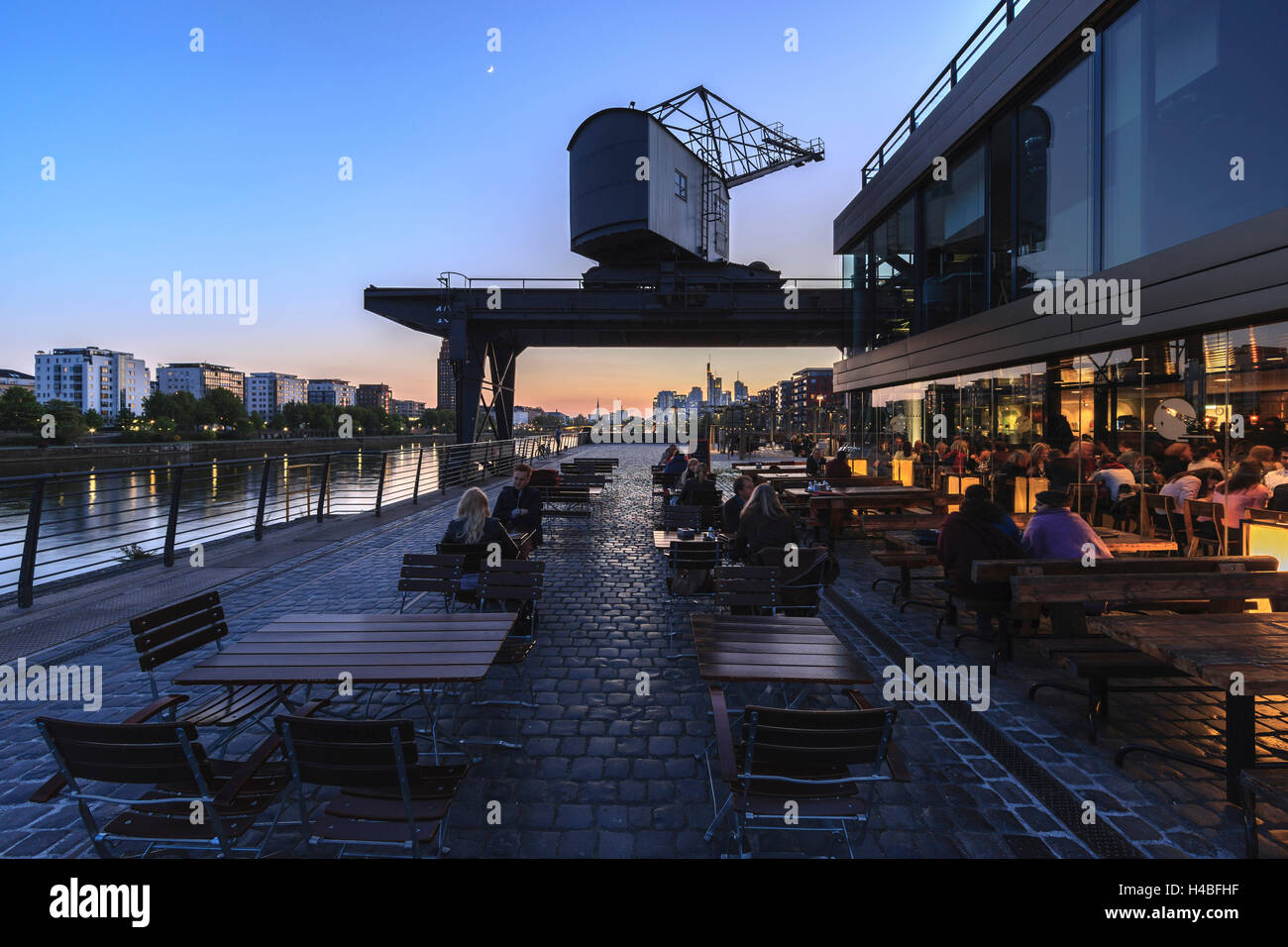 Oosten Frankfurt europe germany hesse frankfurt former rurhort shipyard and the