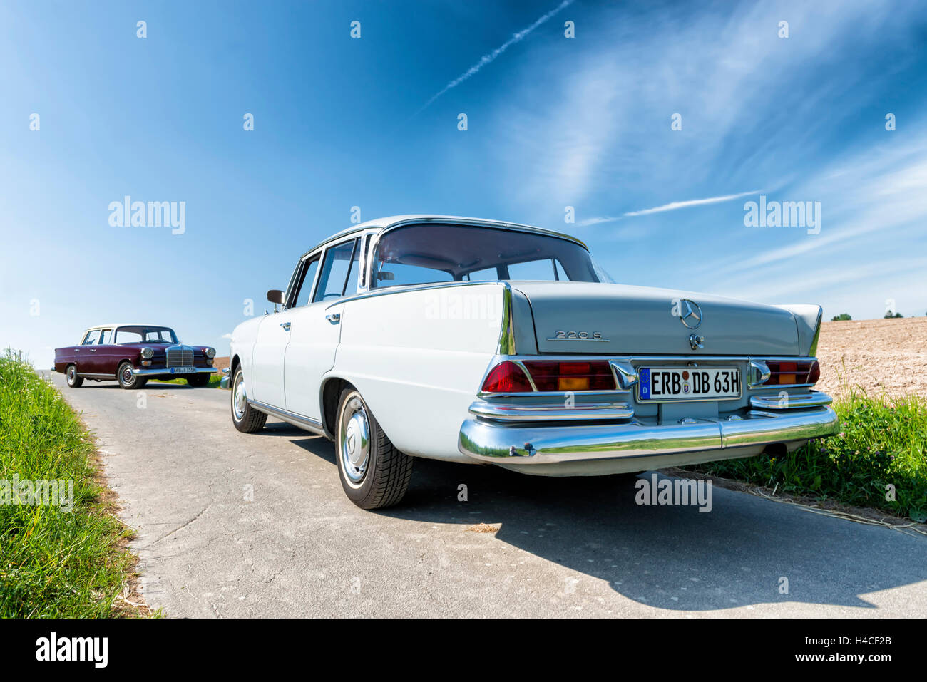Mercedes 220 Sb, type W 111, year of manufacture 1963, 105 HP, and ...