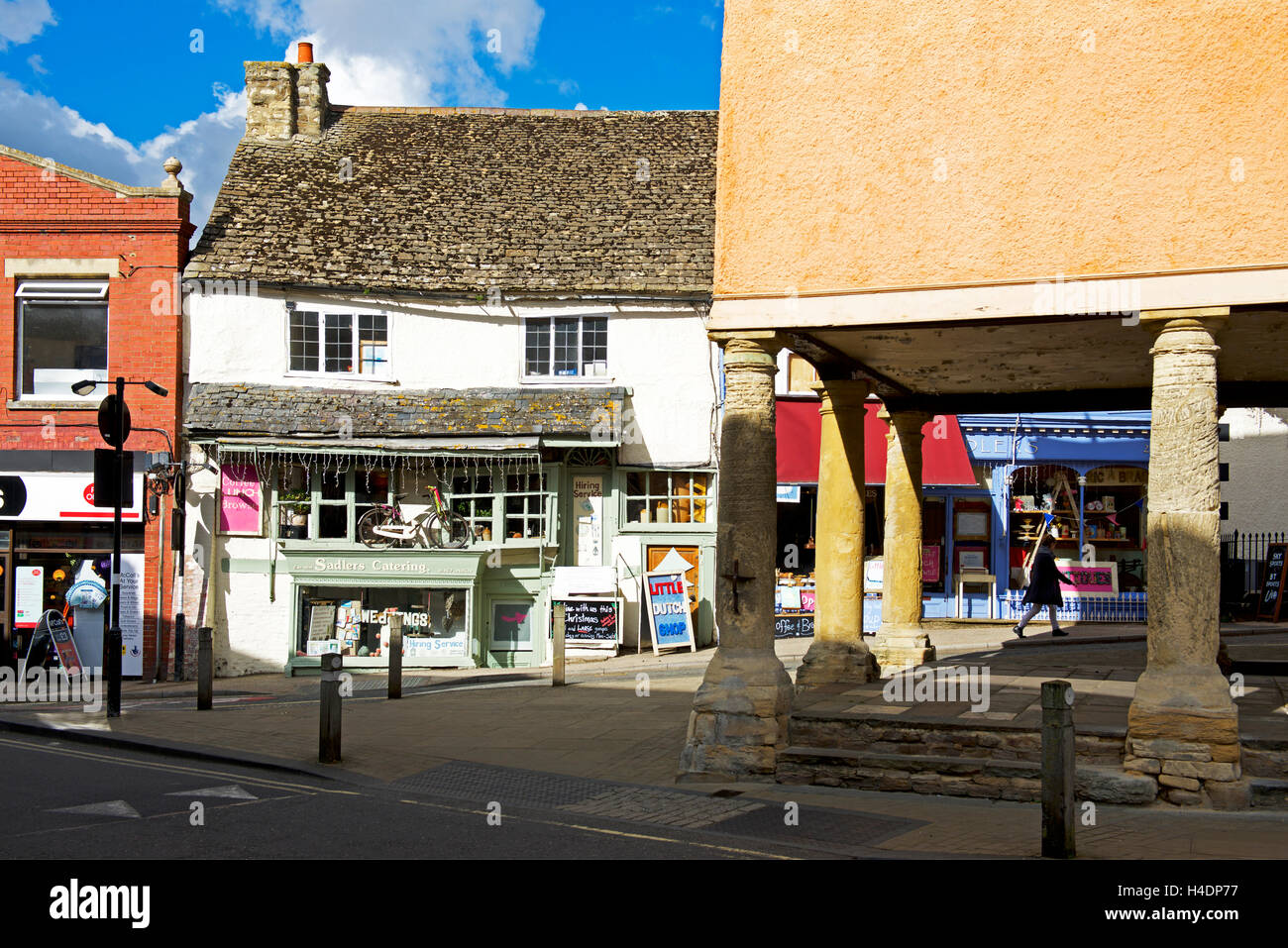 The town square in Faringdon, Oxfordshire, England UK Stock Photo