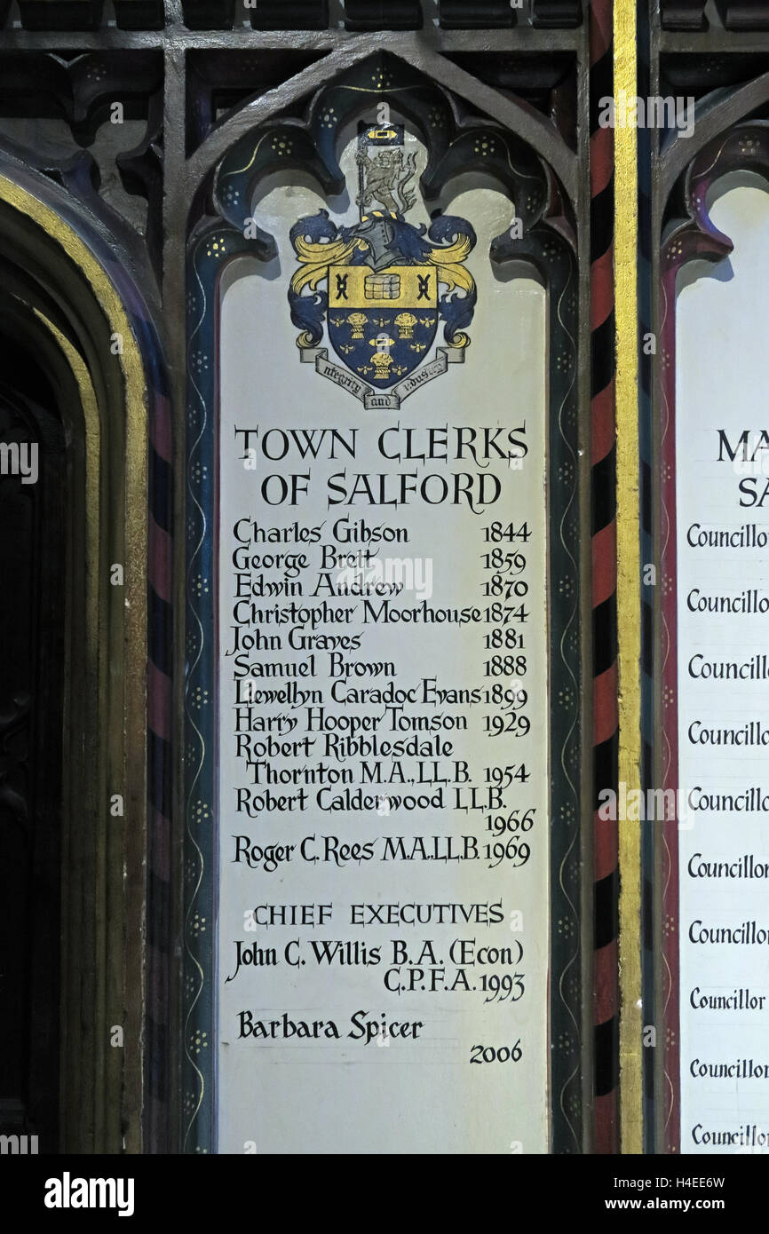 M3,wall,mounted,plaque,painted,sign,signwriter,Recorders,Judges,notable,men,women,List of Salford Town clerks,Manchester Cathedral,Victoria St,Victoria Street,M3 1SX,GoTonySmith,@HotpixUK,Tony,Smith,UK,GB,Great,Britain,United,Kingdom,English,British,England,Buy Pictures of,Buy Images Of,Images of,Stock Images,Tony Smith,United Kingdom,Great Britain,British Isles