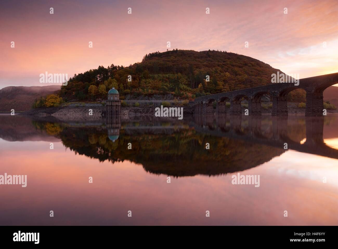 Sunrise in the Elan Valley Stock Photo