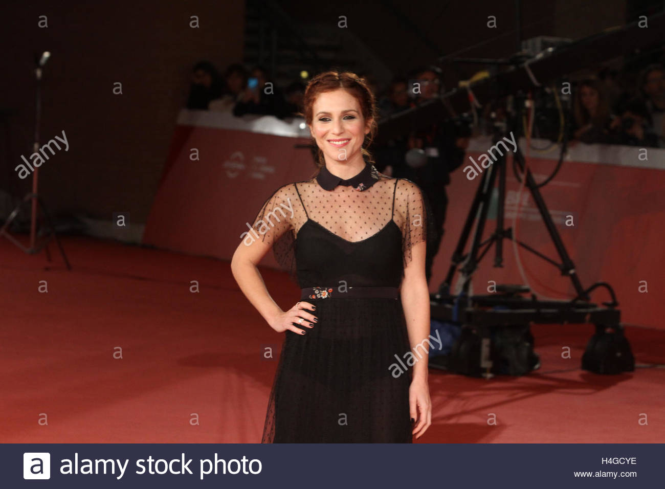 Rome, Italy. 15th Oct, 2016. Italian actress Isabella Ragonese as seen at a red carpet event for Italian film 'Sole, - Stock Image