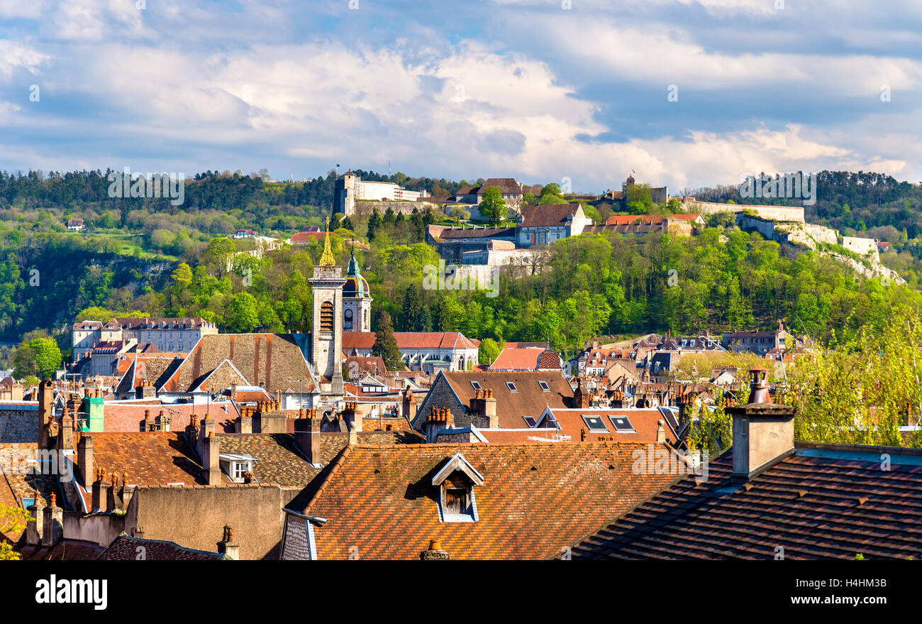 View of the old town of Besancon - France, Doubs - Stock Image
