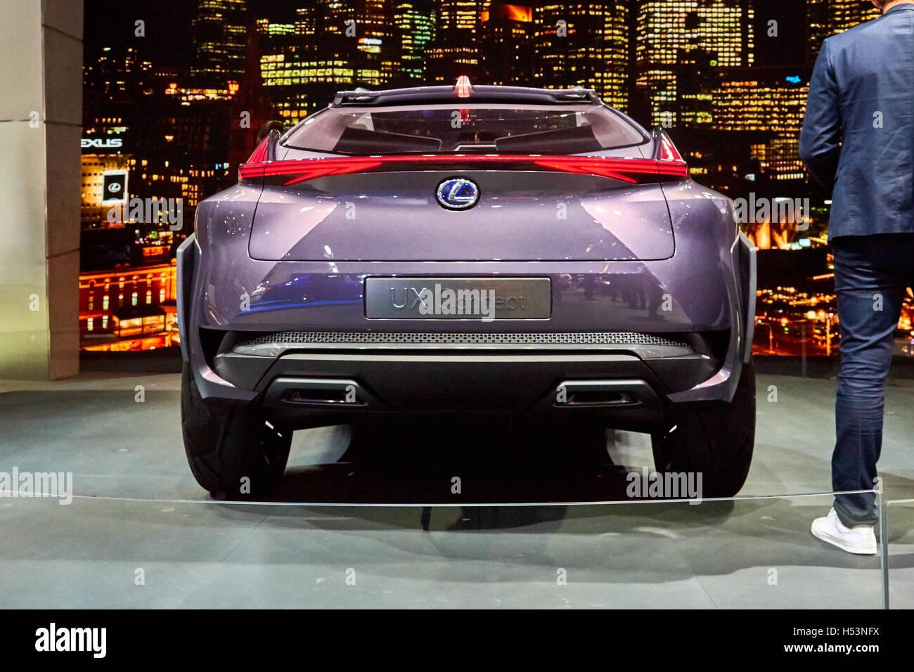 Paris, France - September 29, 2016: 2016 Lexus UX Concept presented ...