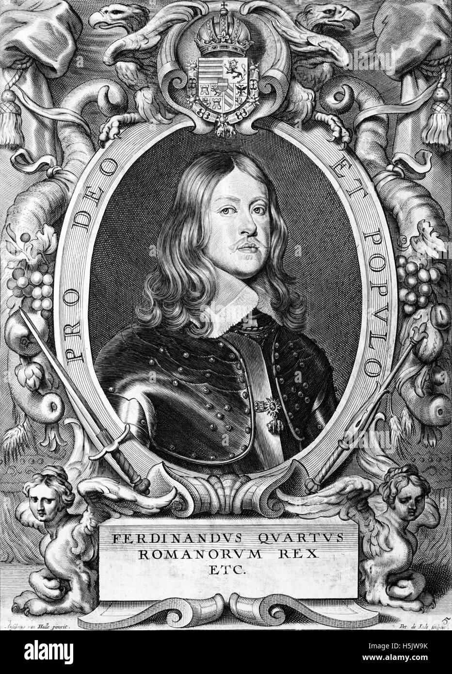 FERDINAND IV King of the Romans (1633-1654) - Stock Image