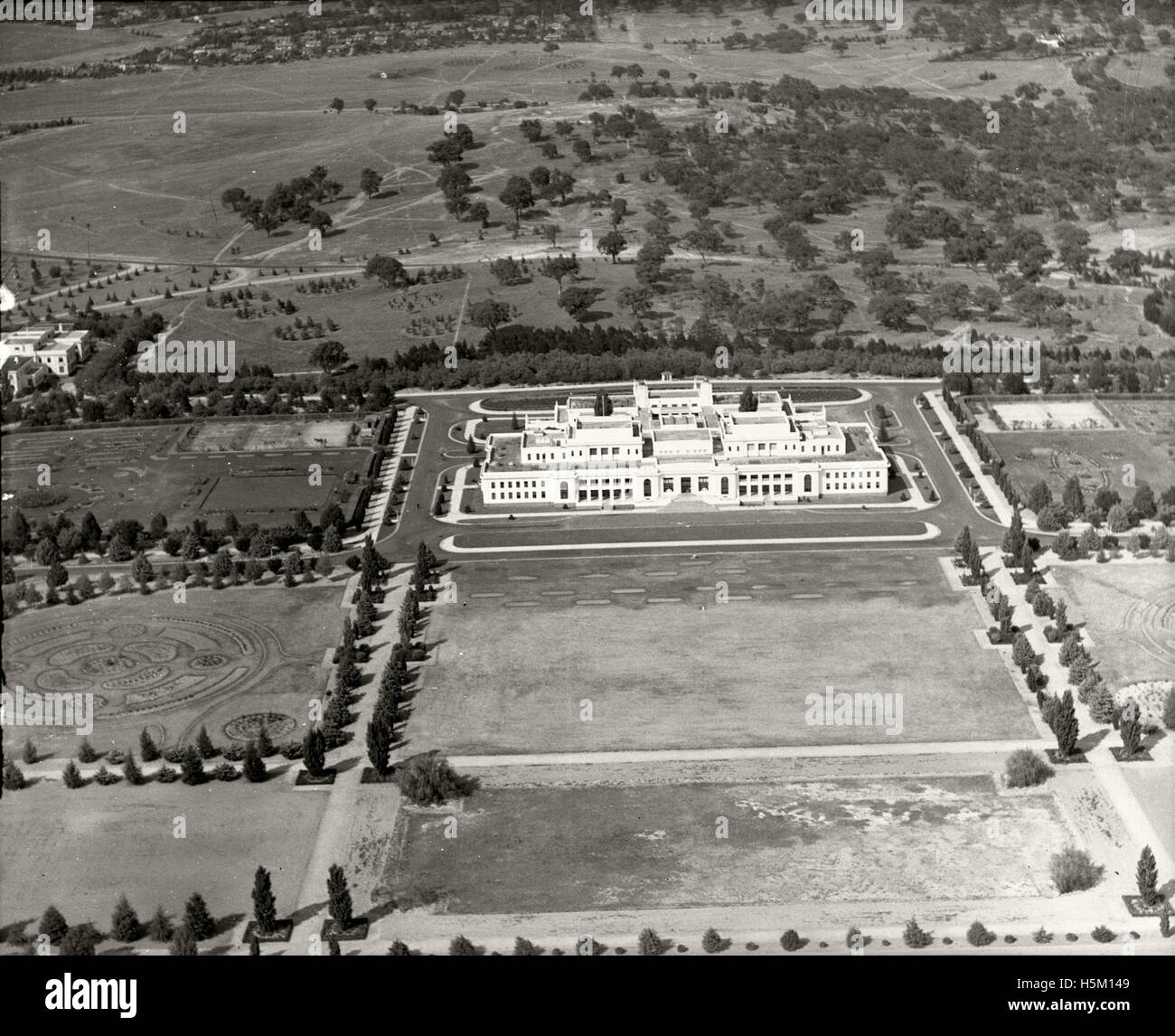 Parliament House, Canberra - 11th Mar 1937 - Stock Image