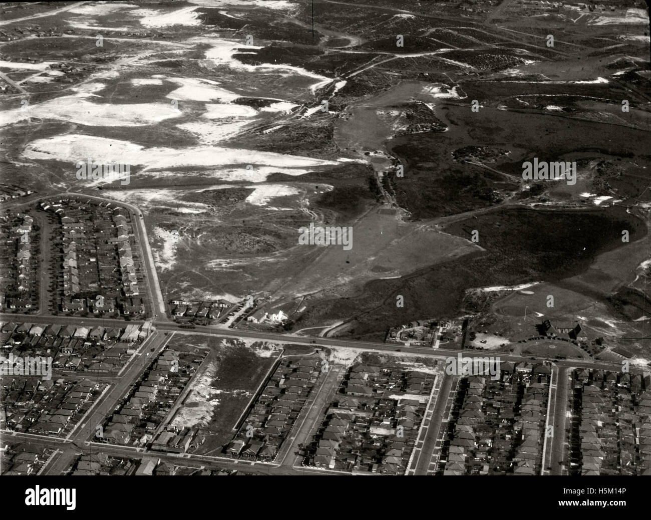 Eastlakes Golf Course 28 Aug 1936 - Stock Image