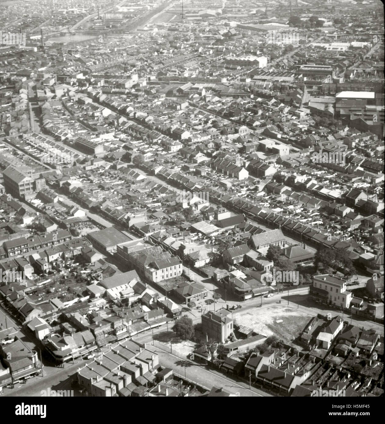Erskineville & Environs  - 25 Aug 1937 - Stock Image