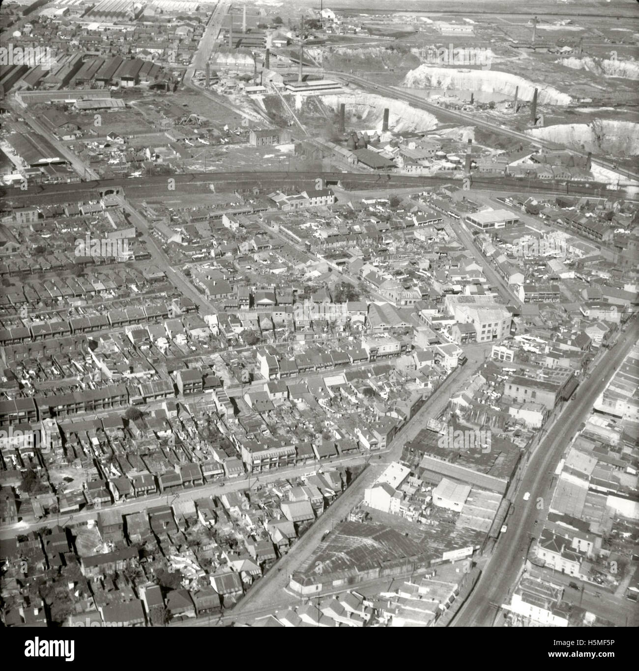Erskineville & Environs (A) - 15521 -25 Aug 1937 - Stock Image