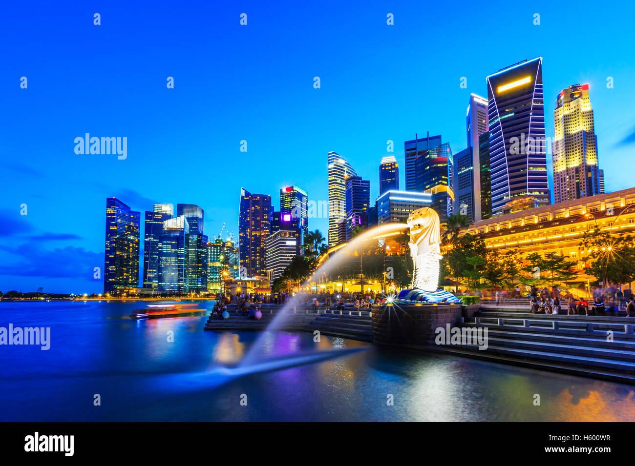 Singapore city skyline. - Stock Image