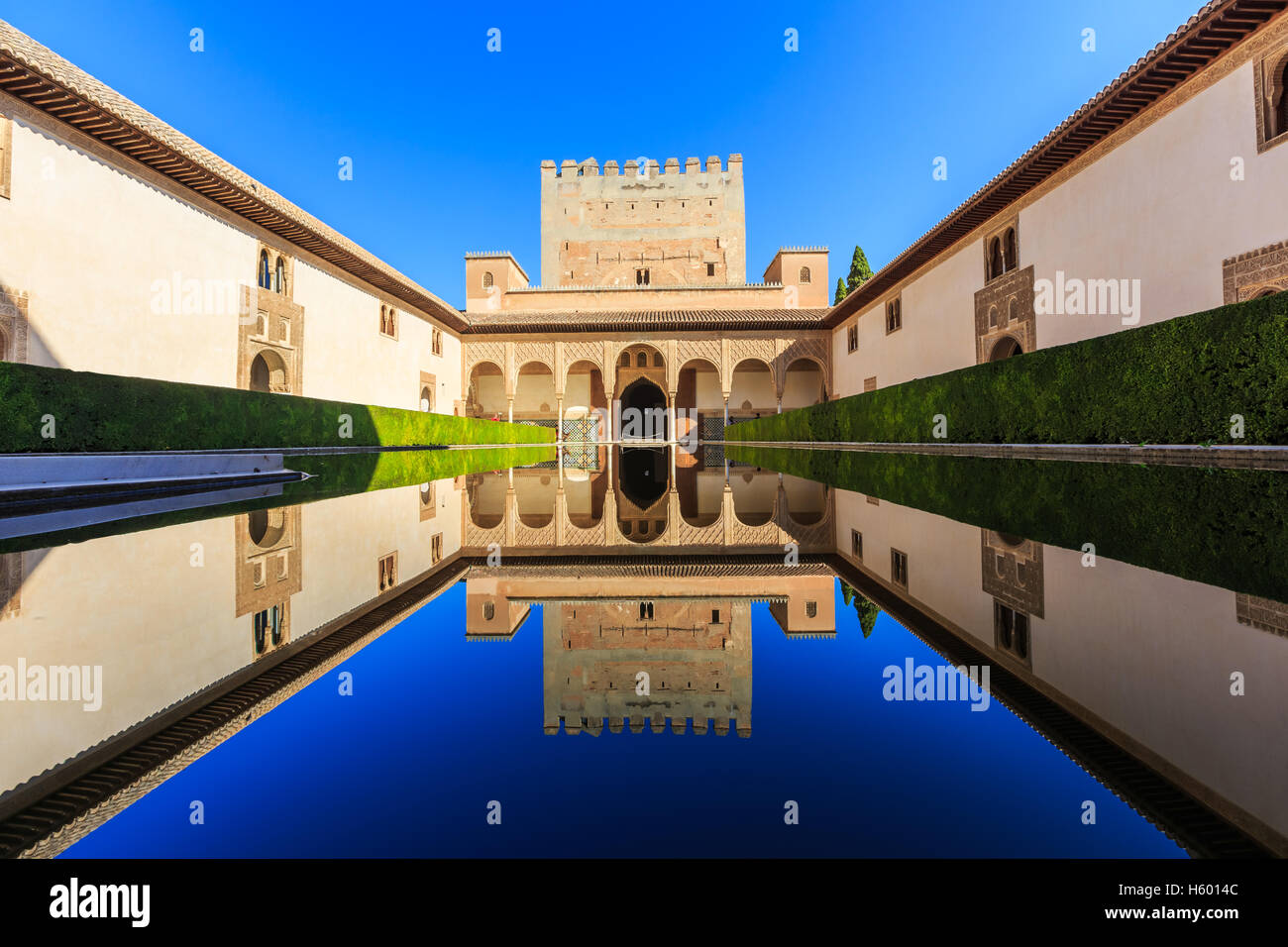 Alhambra of Granada, Spain. - Stock Image