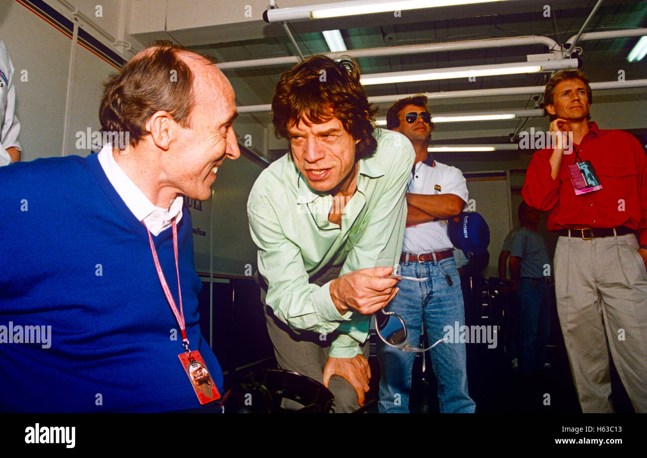 Mick Jagger Chatting To Frank Williams At A Formula One Race 1990s