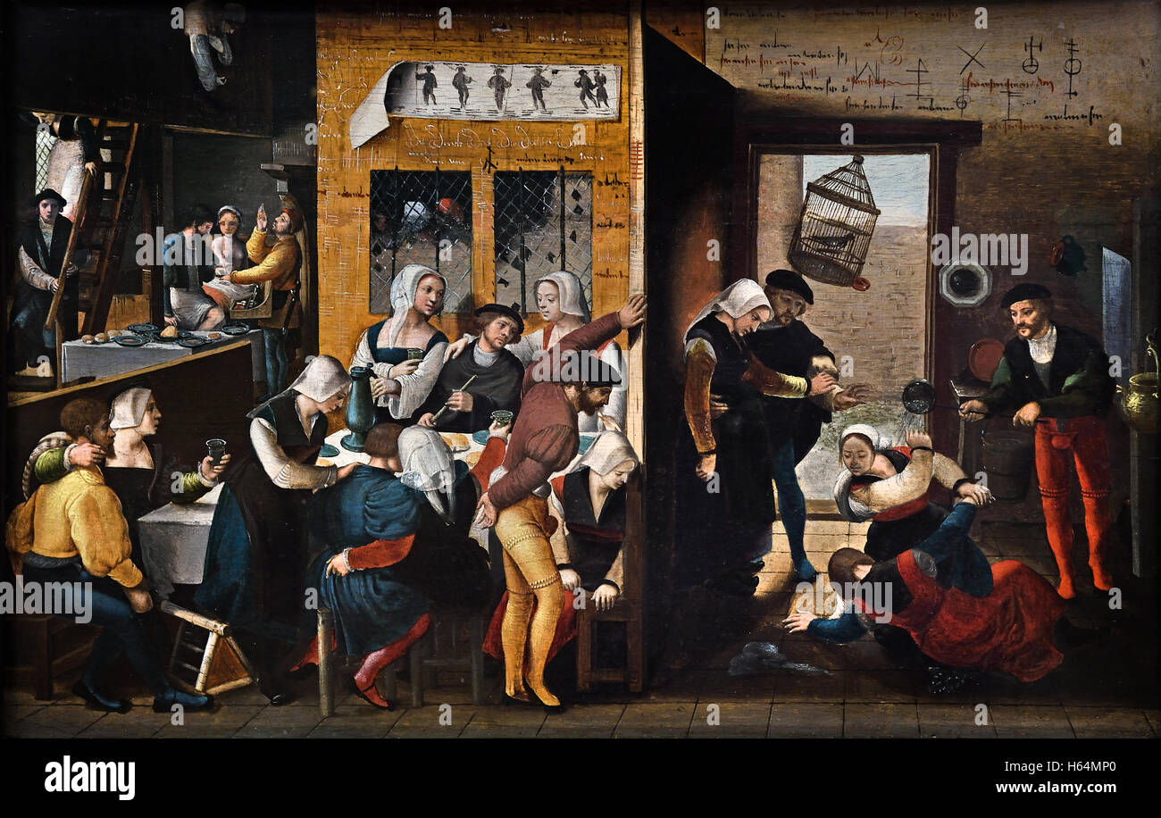 Brothel scene 1537 The Brunswick Monogrammist was an anonymous Dutch  painter, 16th century. He painted religious scenes but also several scenes  of secular ...
