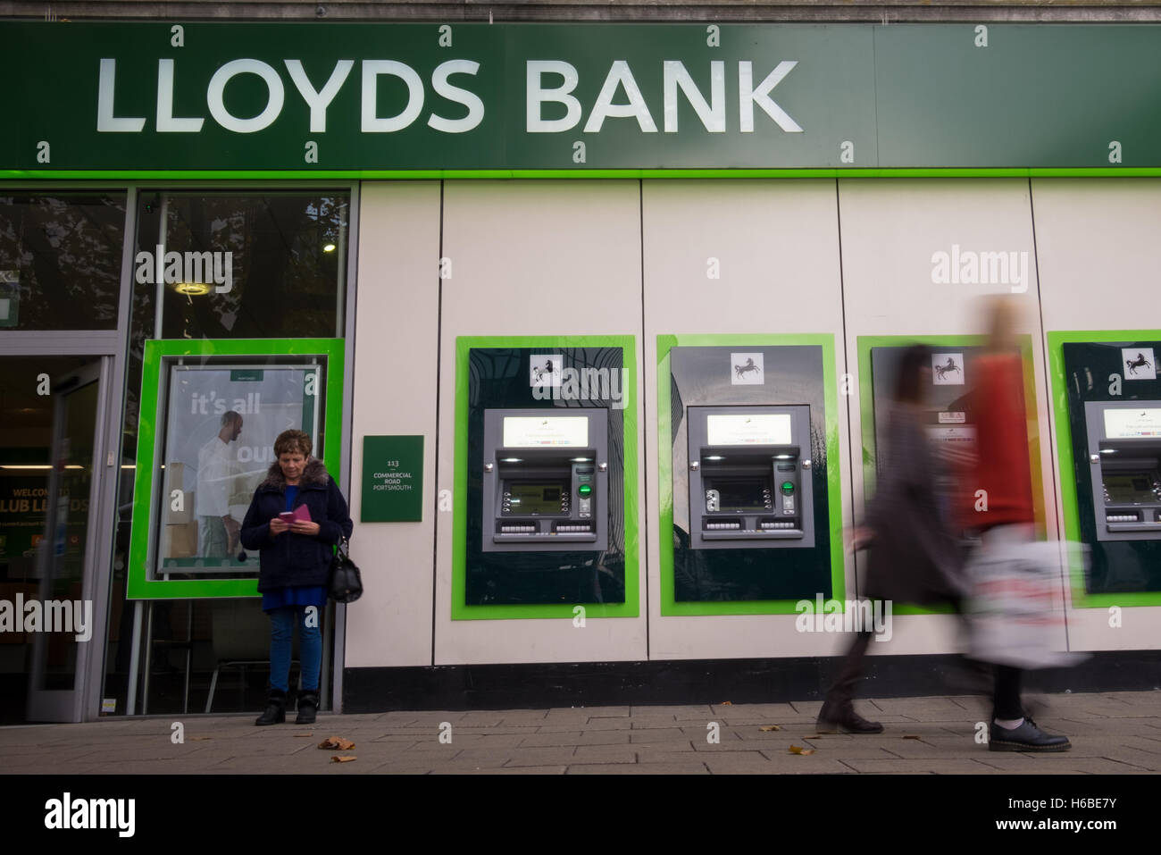 A general view of Lloyds Bank in Commercial Road, Portsmouth Stock Photo