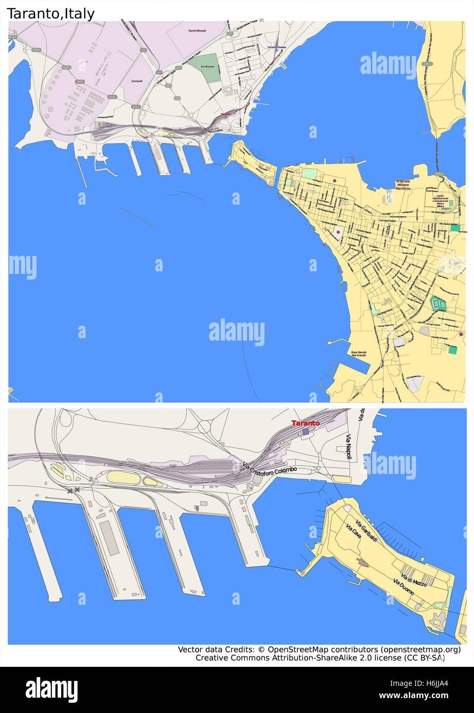 Taranto italy city map stock vector art illustration vector image taranto italy city map altavistaventures Image collections