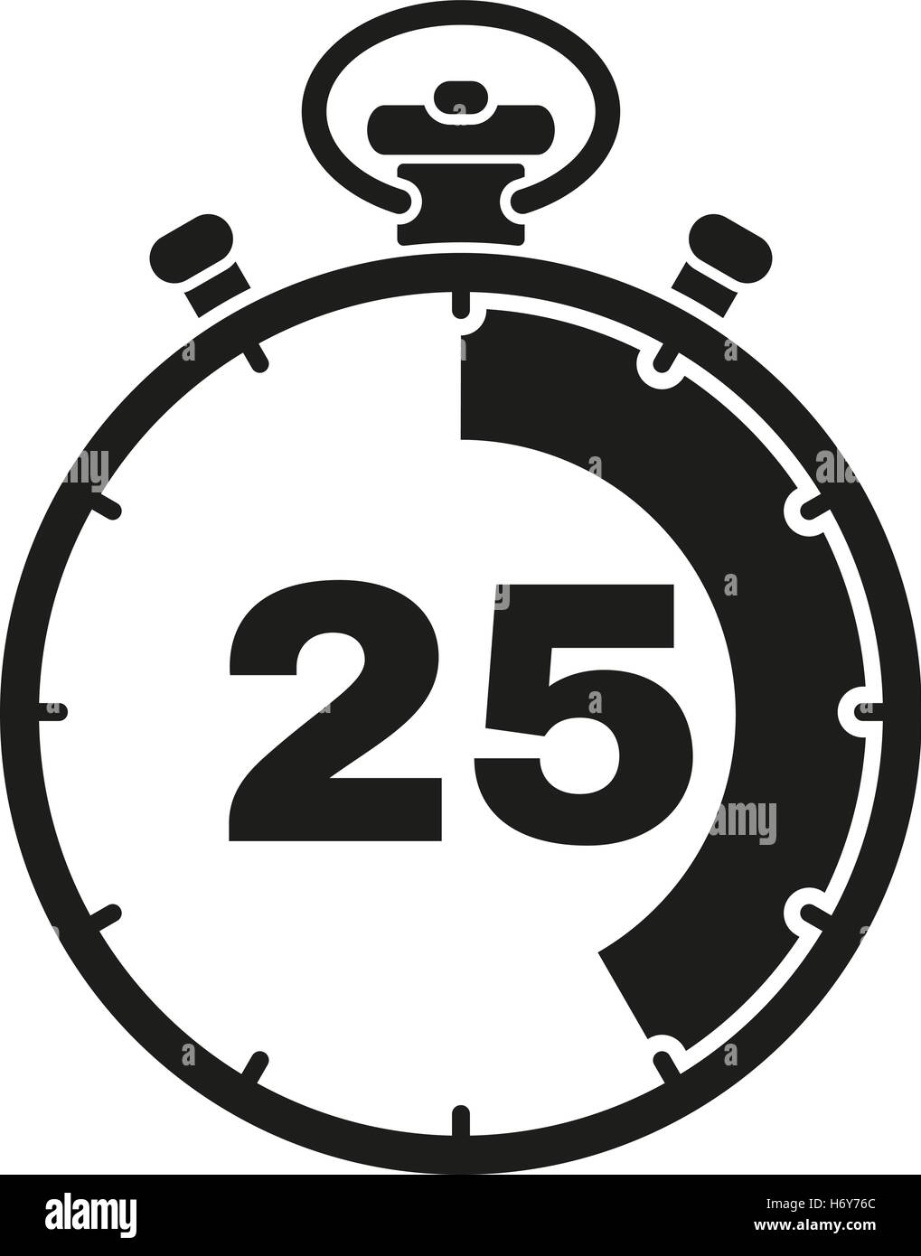 the 25 seconds minutes stopwatch icon clock and watch timer stock