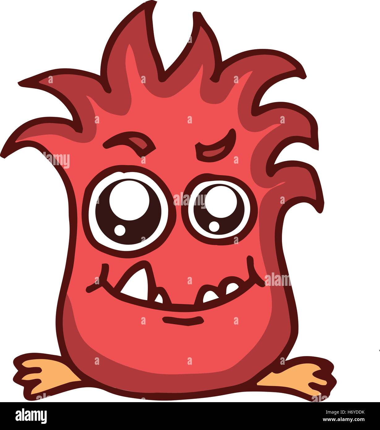 Fire Monster Kids T Shirt Design Vector Illustration Stock Vector