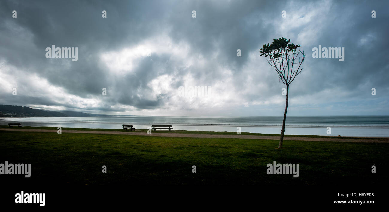 moody abstract foreshore beach scene. lorne. vic - Stock Image