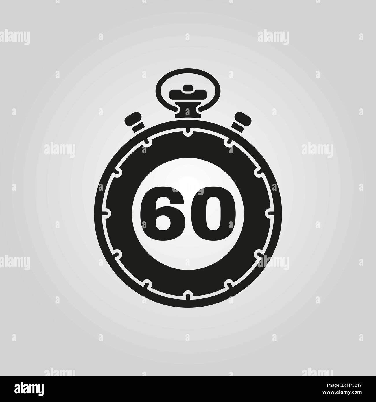 the 60 seconds minutes stopwatch icon clock and watch timer stock