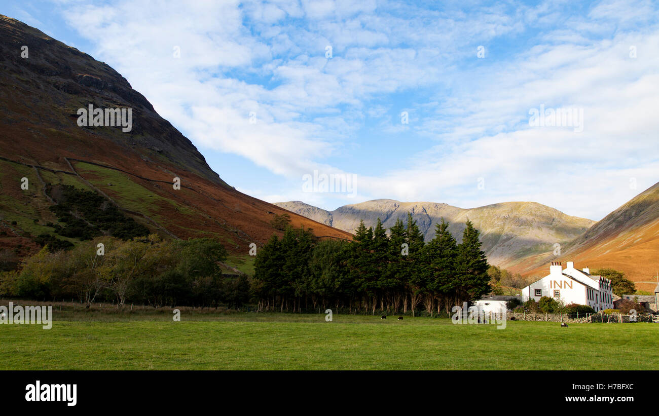 The Inn at Wasdale Head, Cumbria, in the Lake District of northern England. Stock Photo