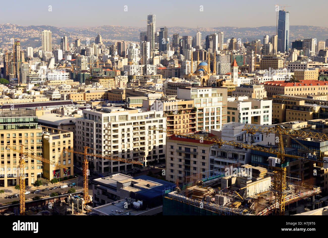 General view over Beirut, Beirut, Lebanon. - Stock Image