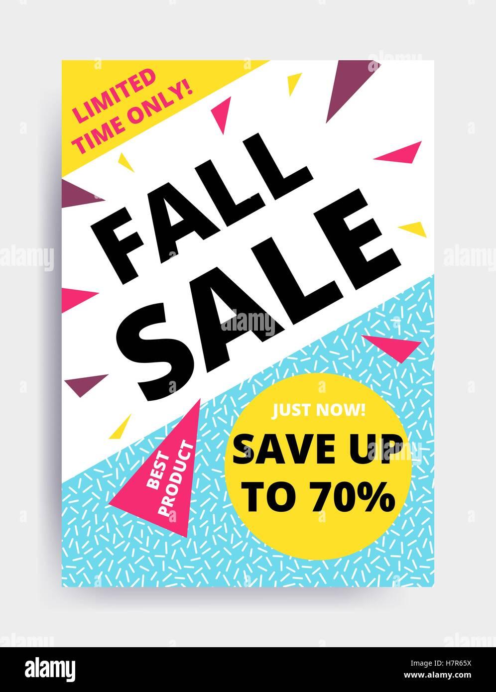 flat design eye catching sale website banner template bright stock