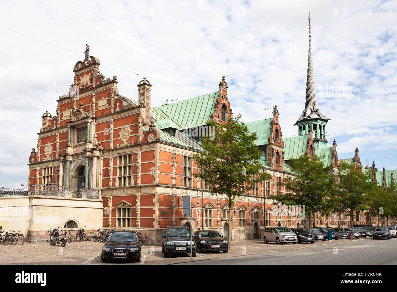 The Old Stock Exchange, Borsen, Nasdaq Copenhagen, Slotsholmen, Copenhagen, Denmark - Stock Image