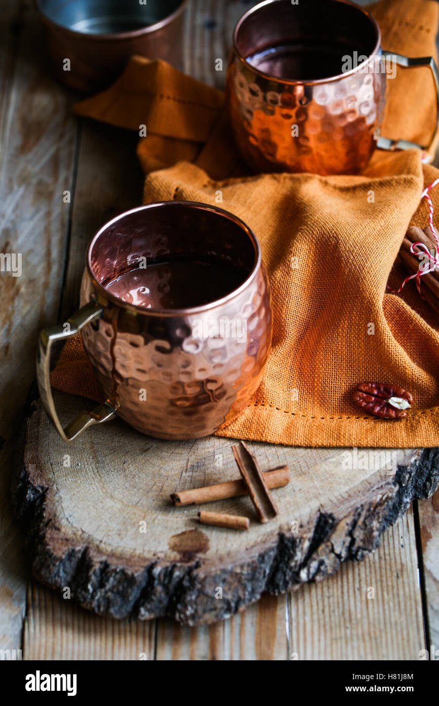 Hot spicy chocolate - Stock Image