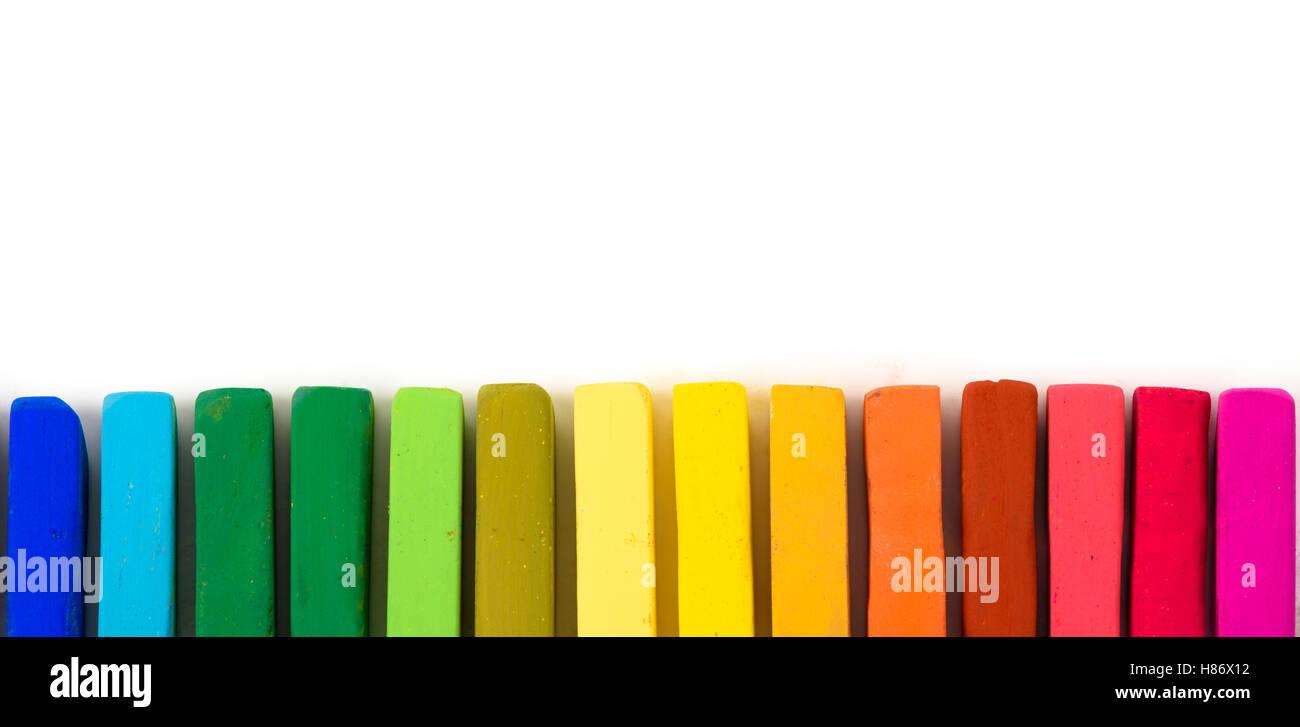 chalk pastel different colors stock photo 125541950 alamy