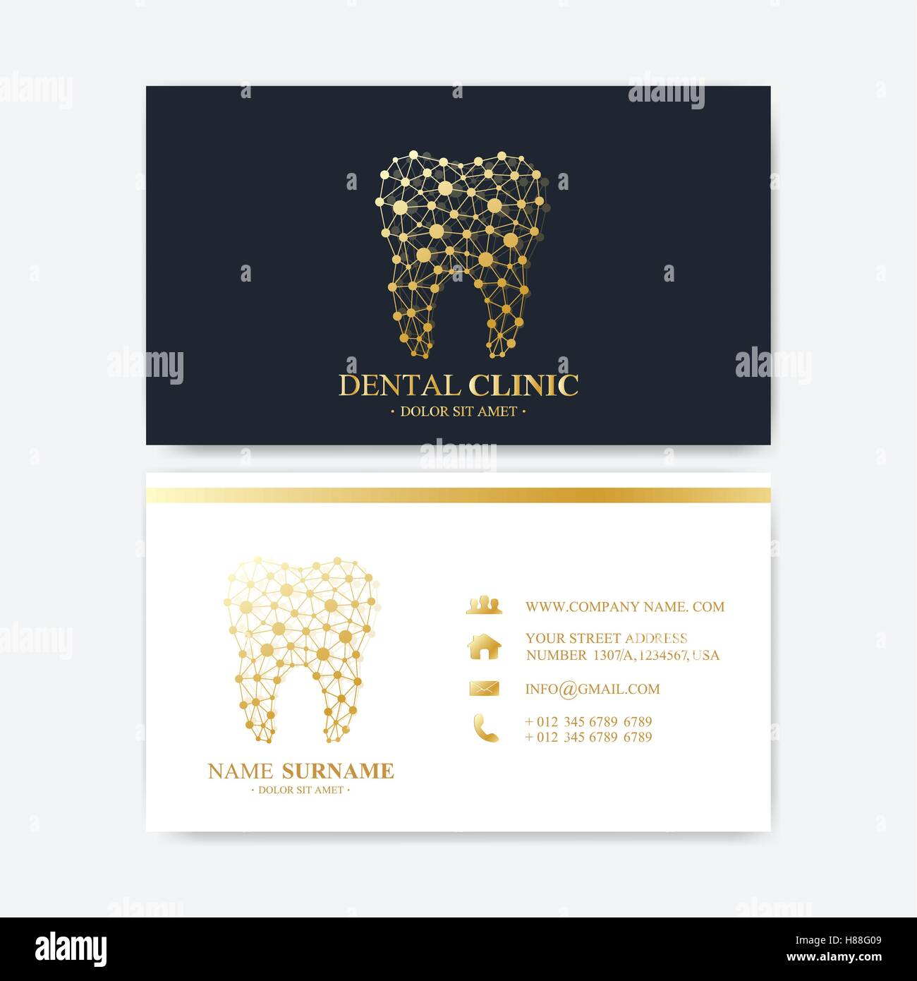 Premium business card print template visiting dental clinic card premium business card print template visiting dental clinic card with tooth logo dentist office oral care dental implants me colourmoves