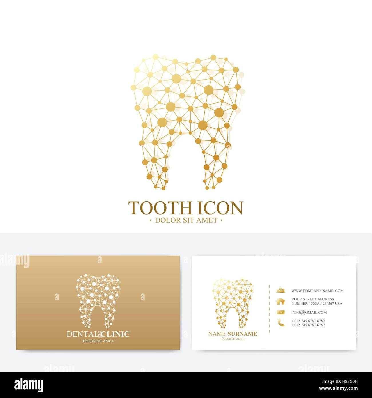 Premium business card print template visiting dental clinic card premium business card print template visiting dental clinic card with tooth logo dentist office oral care dental implants me fbccfo Image collections