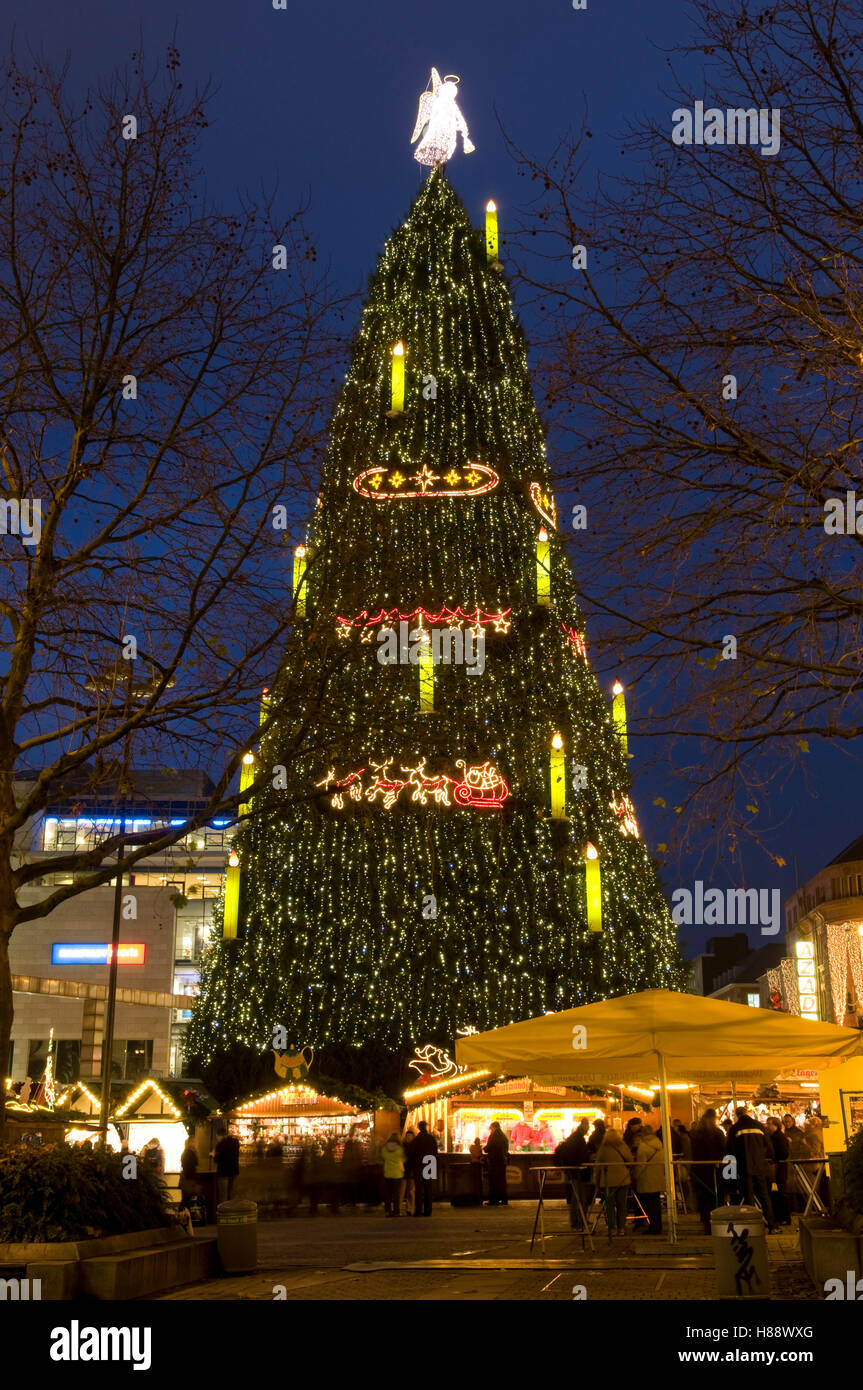 the biggest christmas tree in the world at the christmas market in dortmund ruhrgebiet area north rhine westphalia - Biggest Christmas Tree In The World