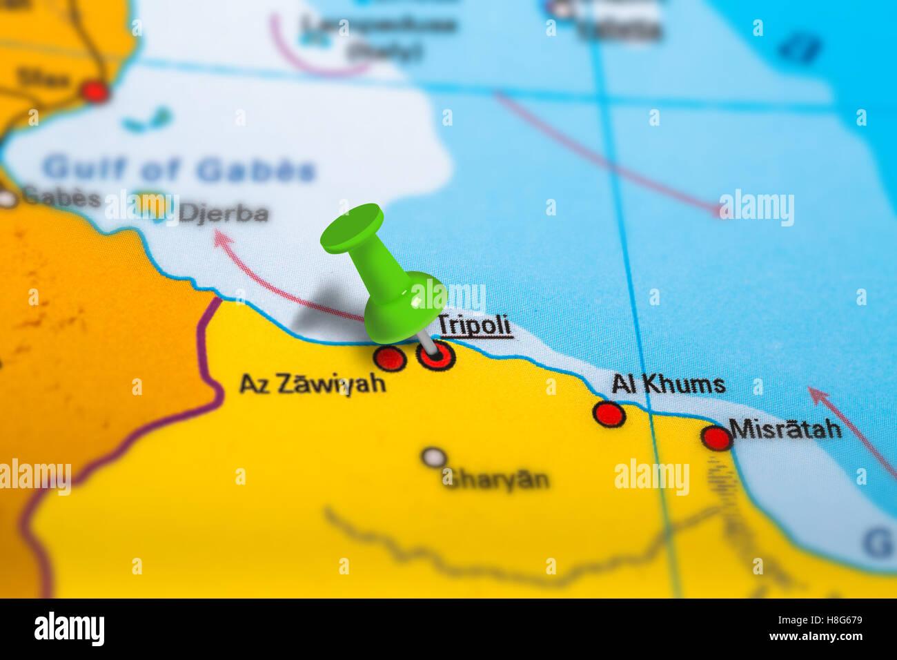 Tripoli Libya map Stock Photo 125745965 Alamy