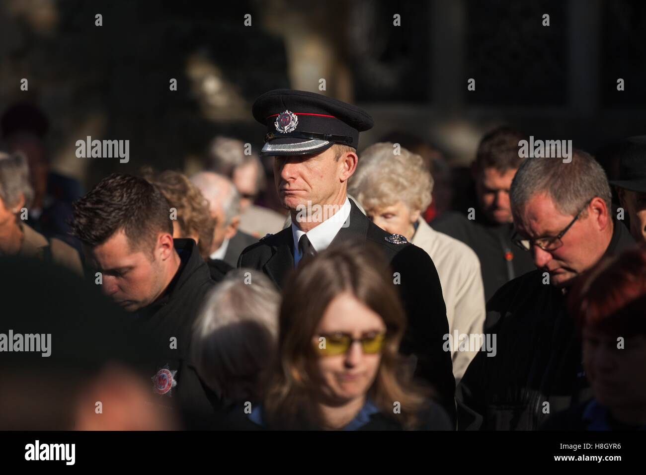 Sidmouth, Devon, UK. 13th November, 2016. Remembrance Sunday, Sidmouth, Devon, 13th Nov 16 South West Photos / Alamy Stock Photo