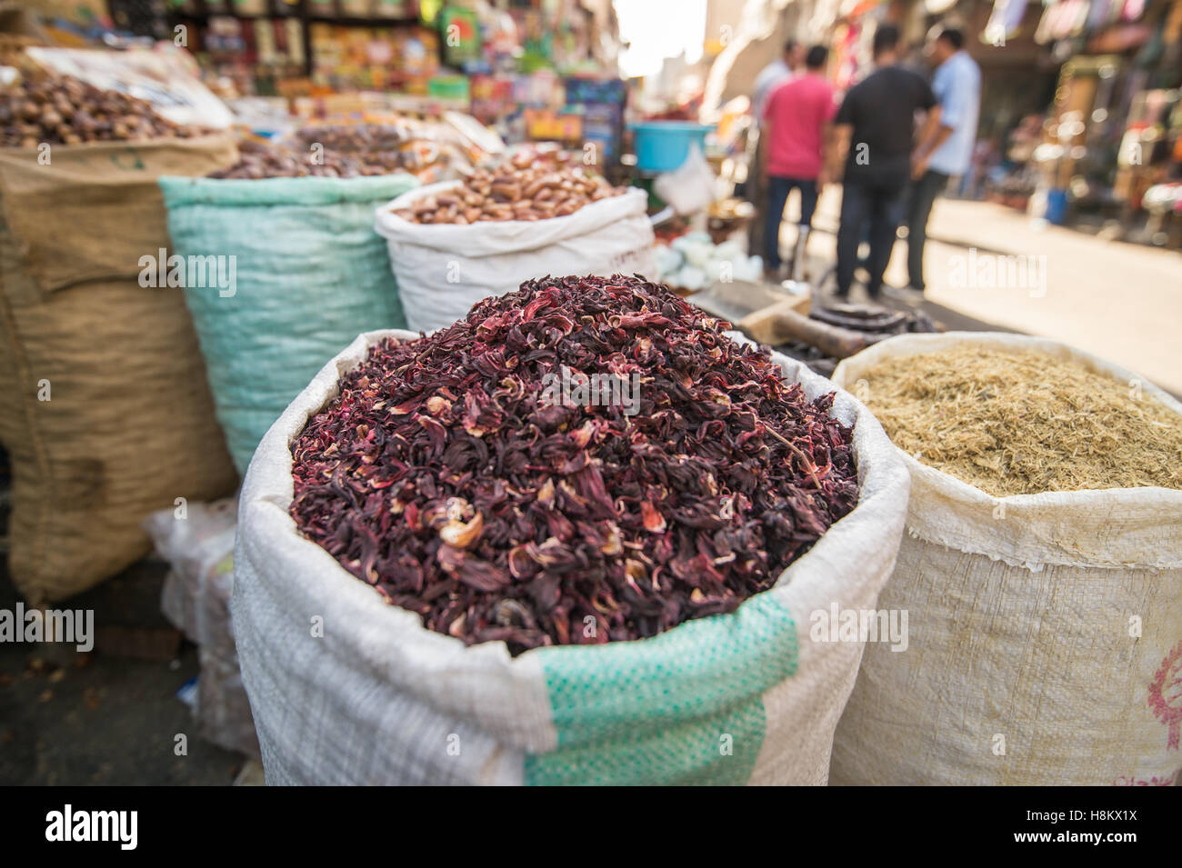 Cairo egypt close up of dried hibiscus for sale in the outdoor close up of dried hibiscus for sale in the outdoor bazaar flea market khan el khalili in cairo izmirmasajfo