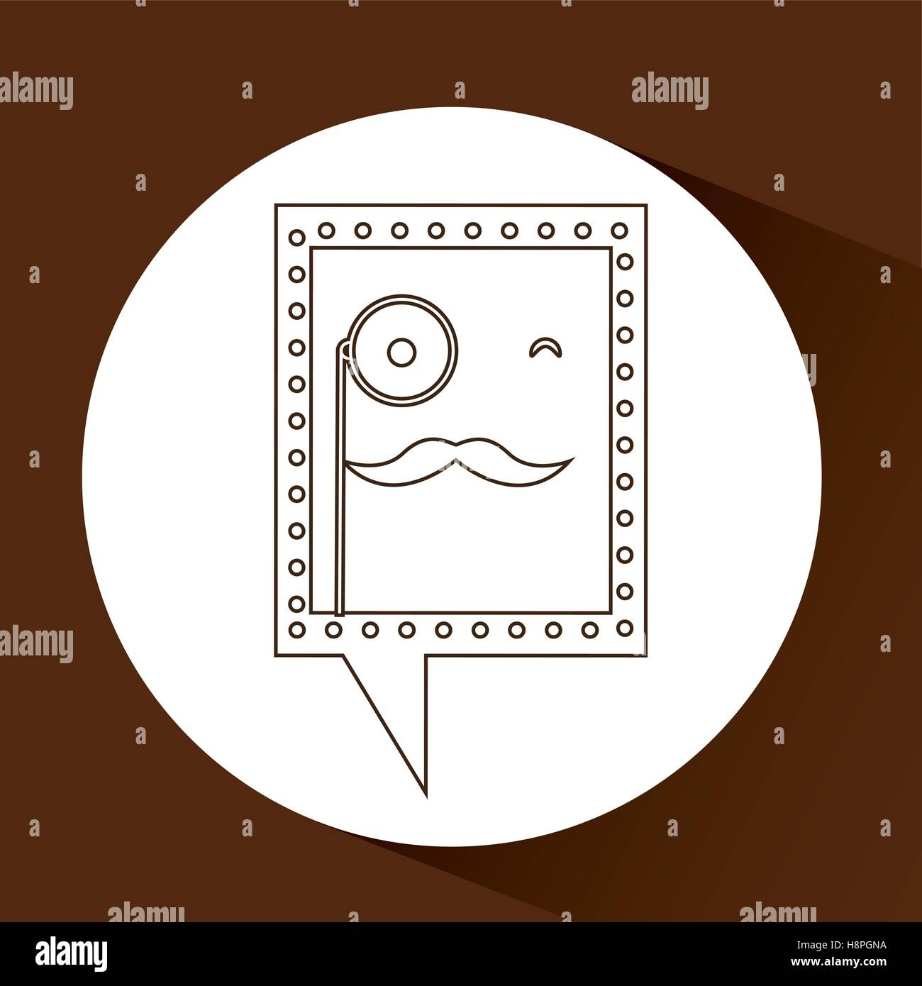 Symbol Hipster Monocle And Mustache Icon Vector Illustration Eps 10
