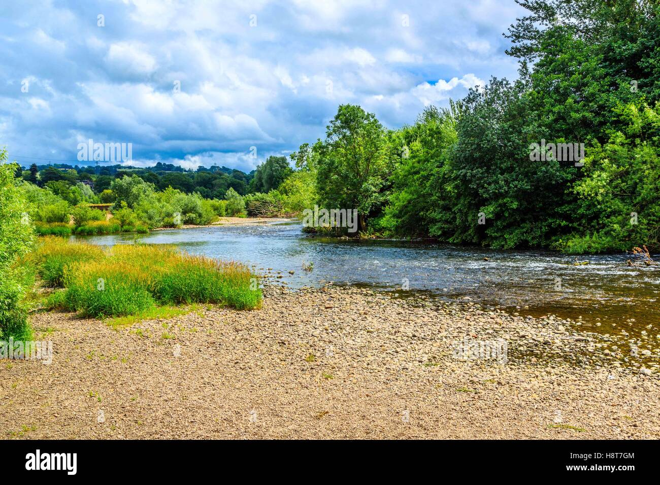 A lovely river in Shropshire, England Stock Photo