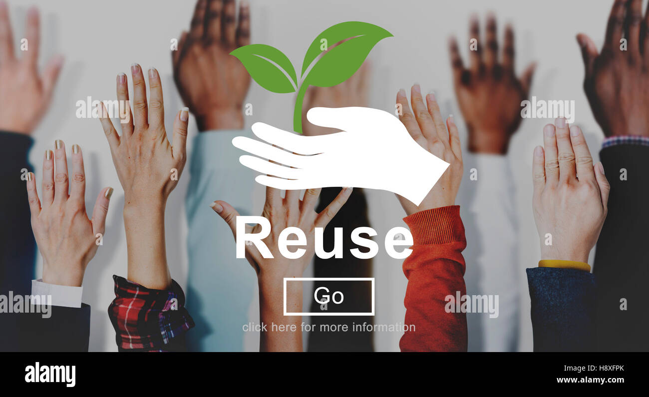 Reuse Reduce Environmentally Friendly Preservation Concept - Stock Image