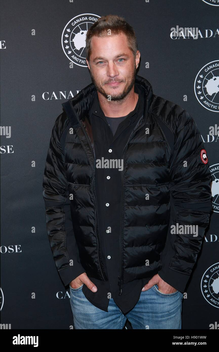 New York, NY, USA. 16th Nov, 2016. Travis Fimmel at Canada Goose first U.S. Flagship store opening at Canada Goose U.S. Flagship 101 Wooster Street on ...
