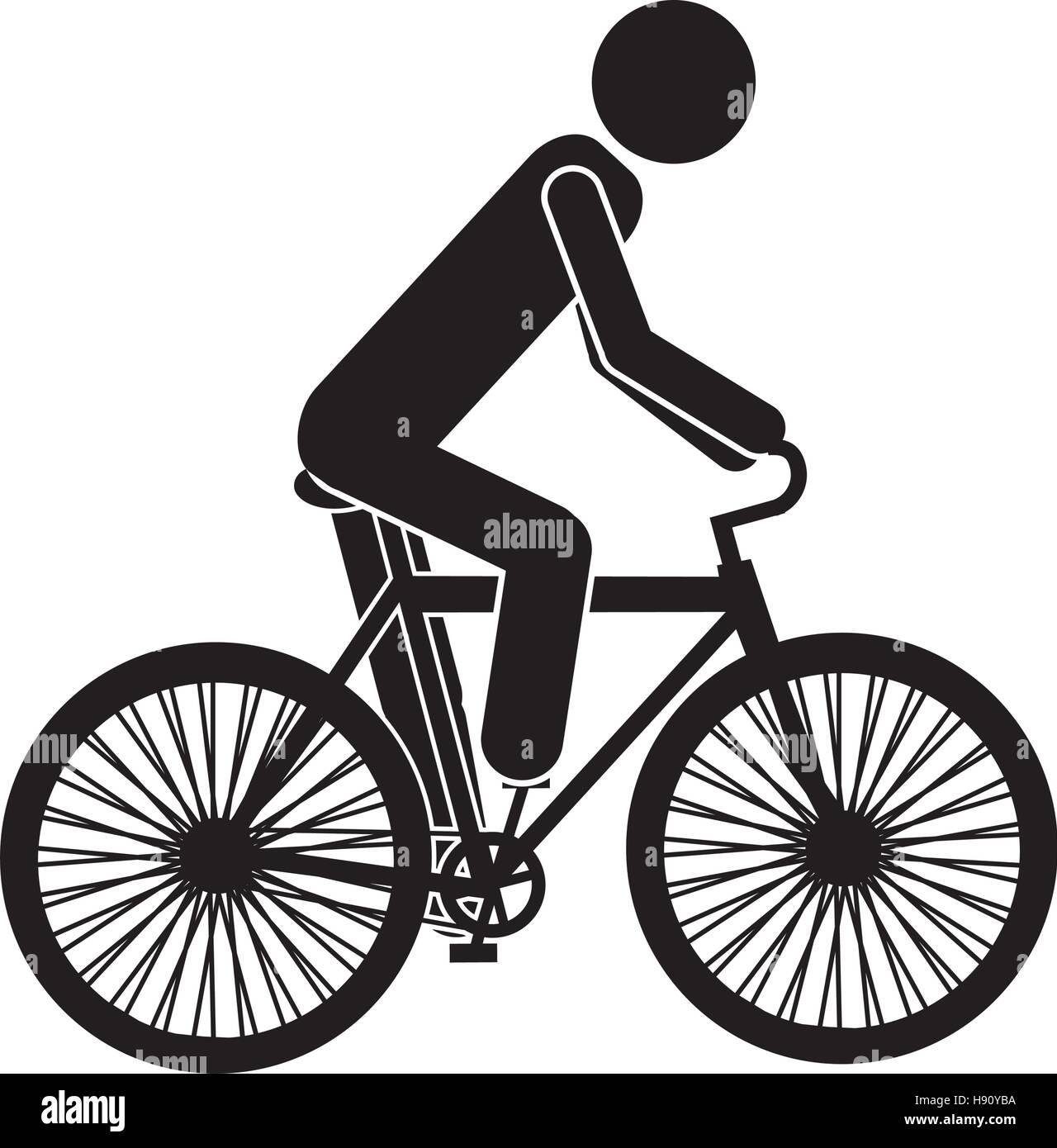 Isolated bike vehicle design - Stock Image