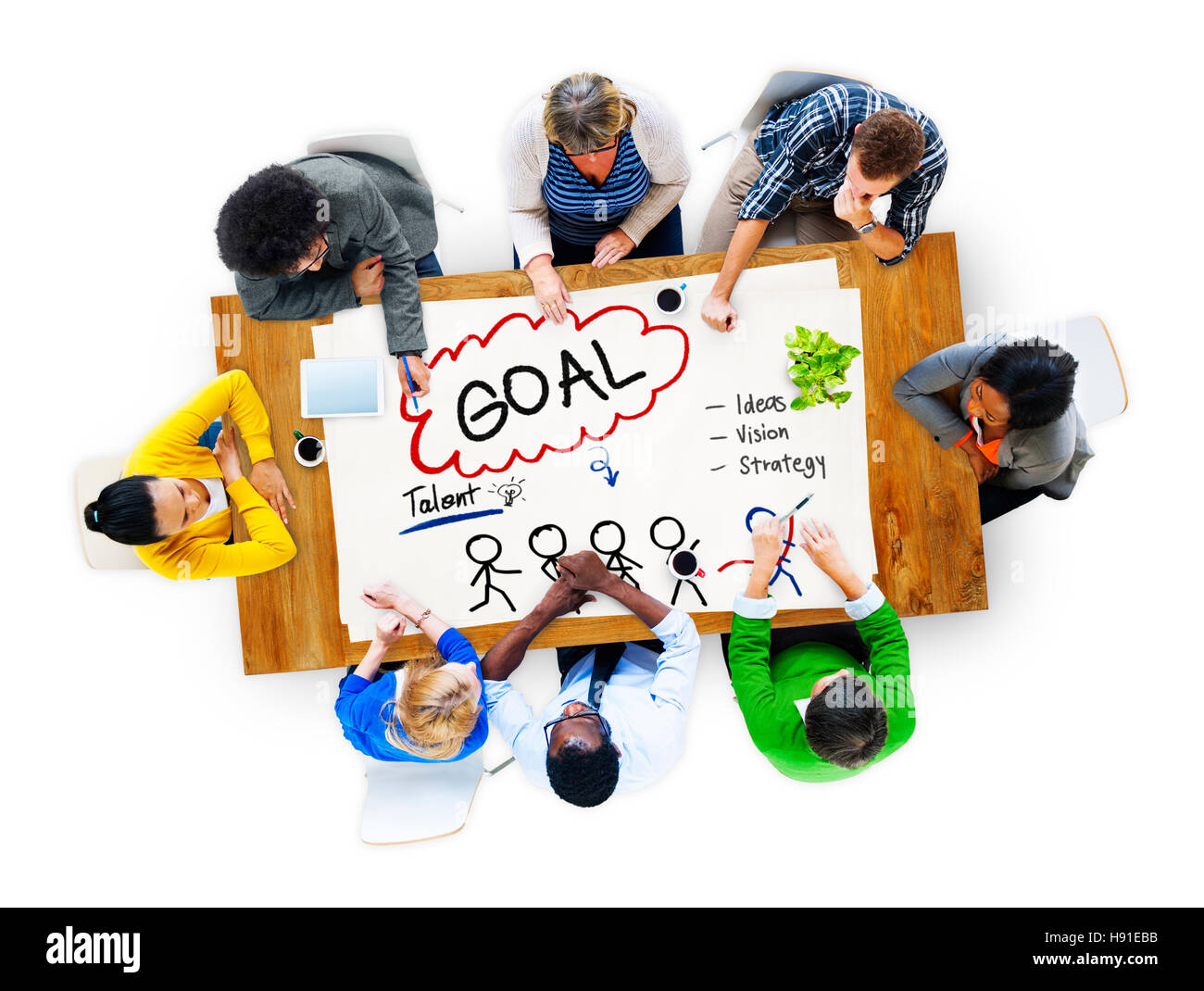 Goal Expectation Target Mission Aim Concept - Stock Image