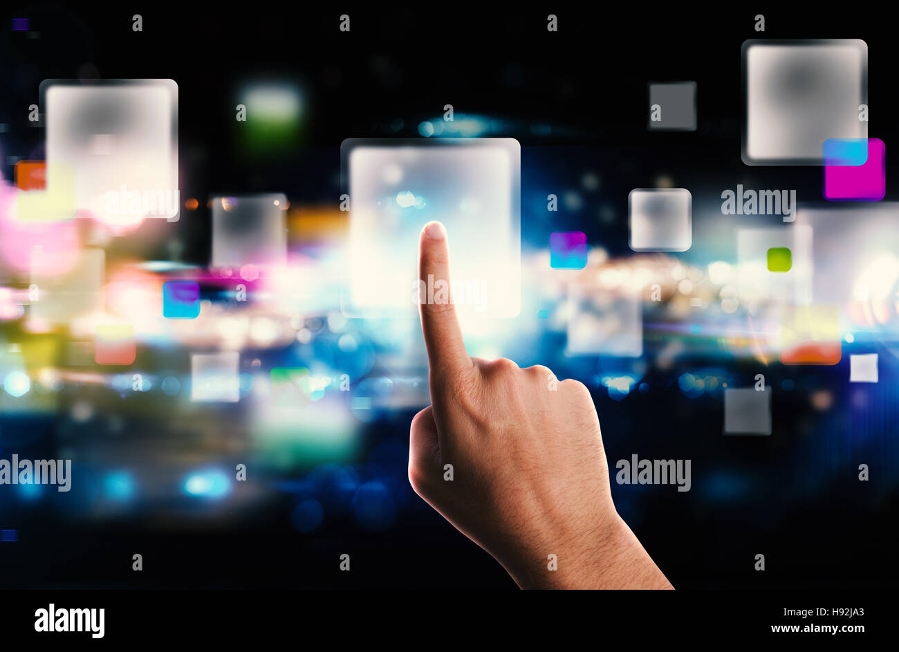 Streaming screen technology - Stock Image