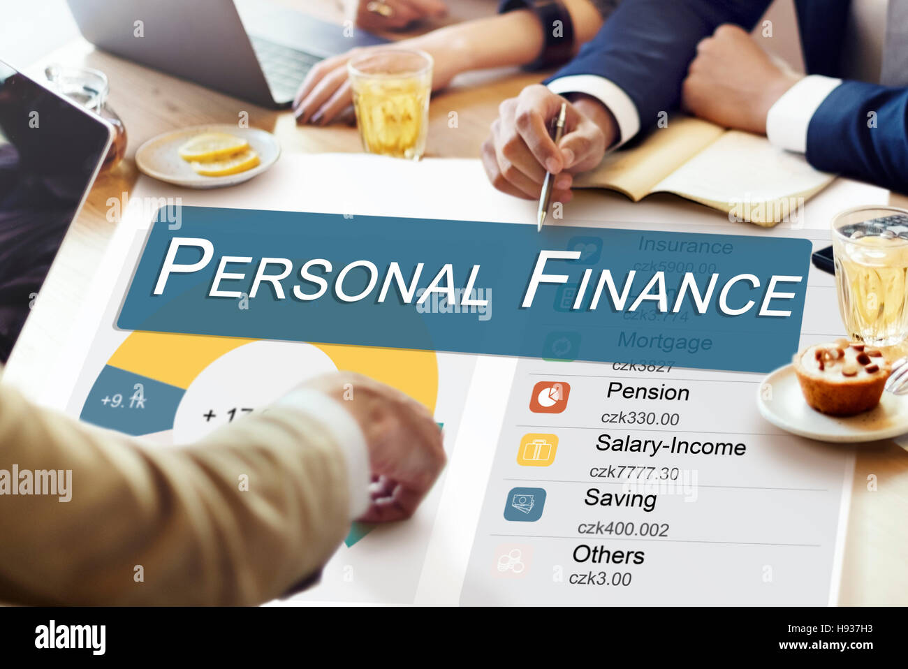 Personal Finance Information Balance Privacy Concept - Stock Image