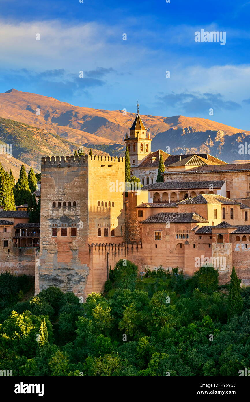 Alhambra Palace, Granada, Andalusia, Spain - Stock Image