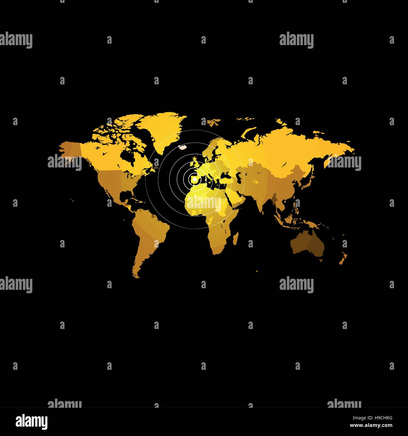 Orange color world map on black background globe design backdrop orange color world map on black background globe design backdrop cartography element wallpaper geographic locations image continents vector illustration gumiabroncs Choice Image