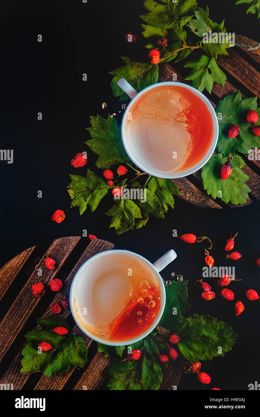 Tea for stormy weather  Swirls and Waves Series - Stock Image