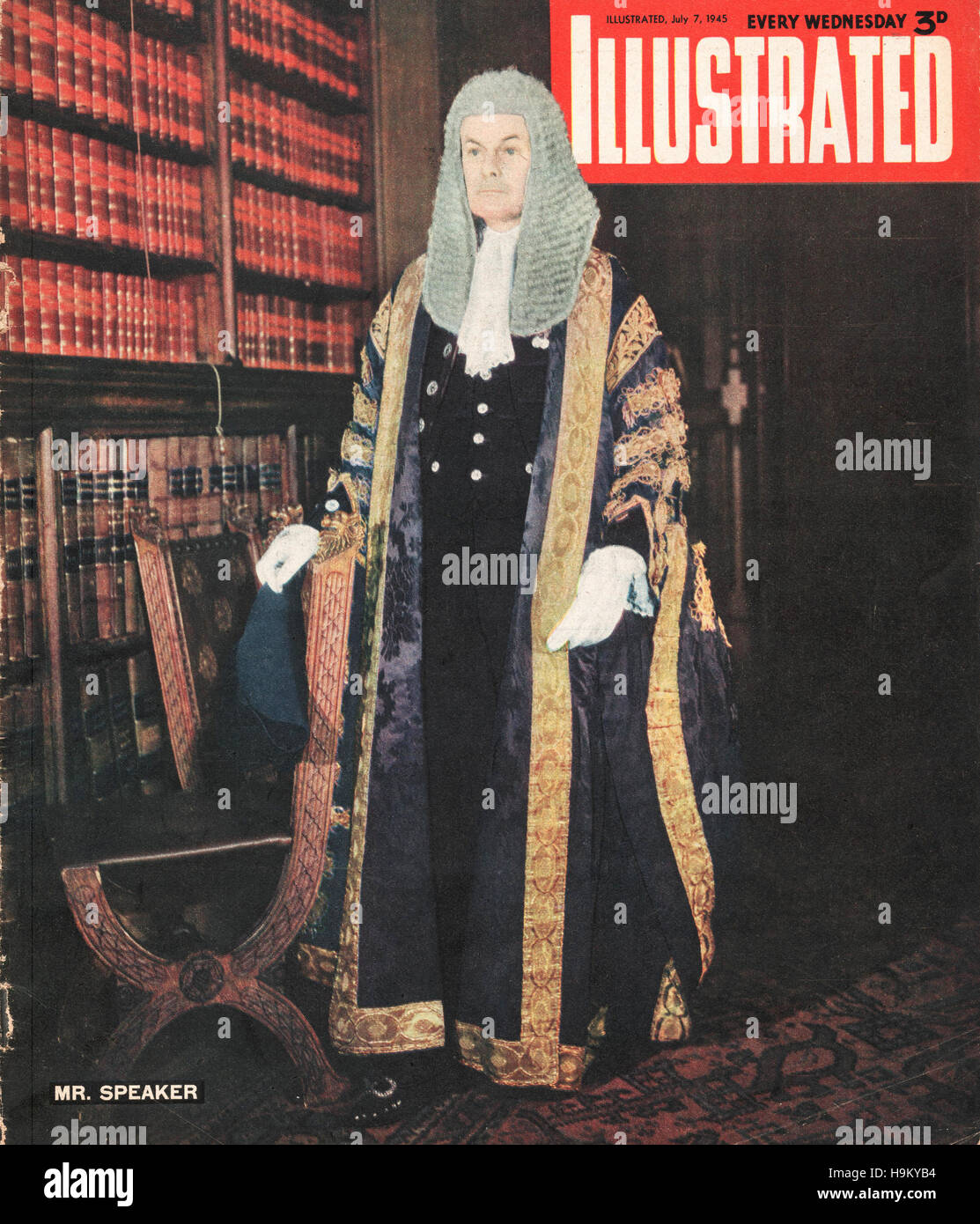 1945 Illustrated Colonel Douglas Clifton Brown, Speaker of the House of Commons