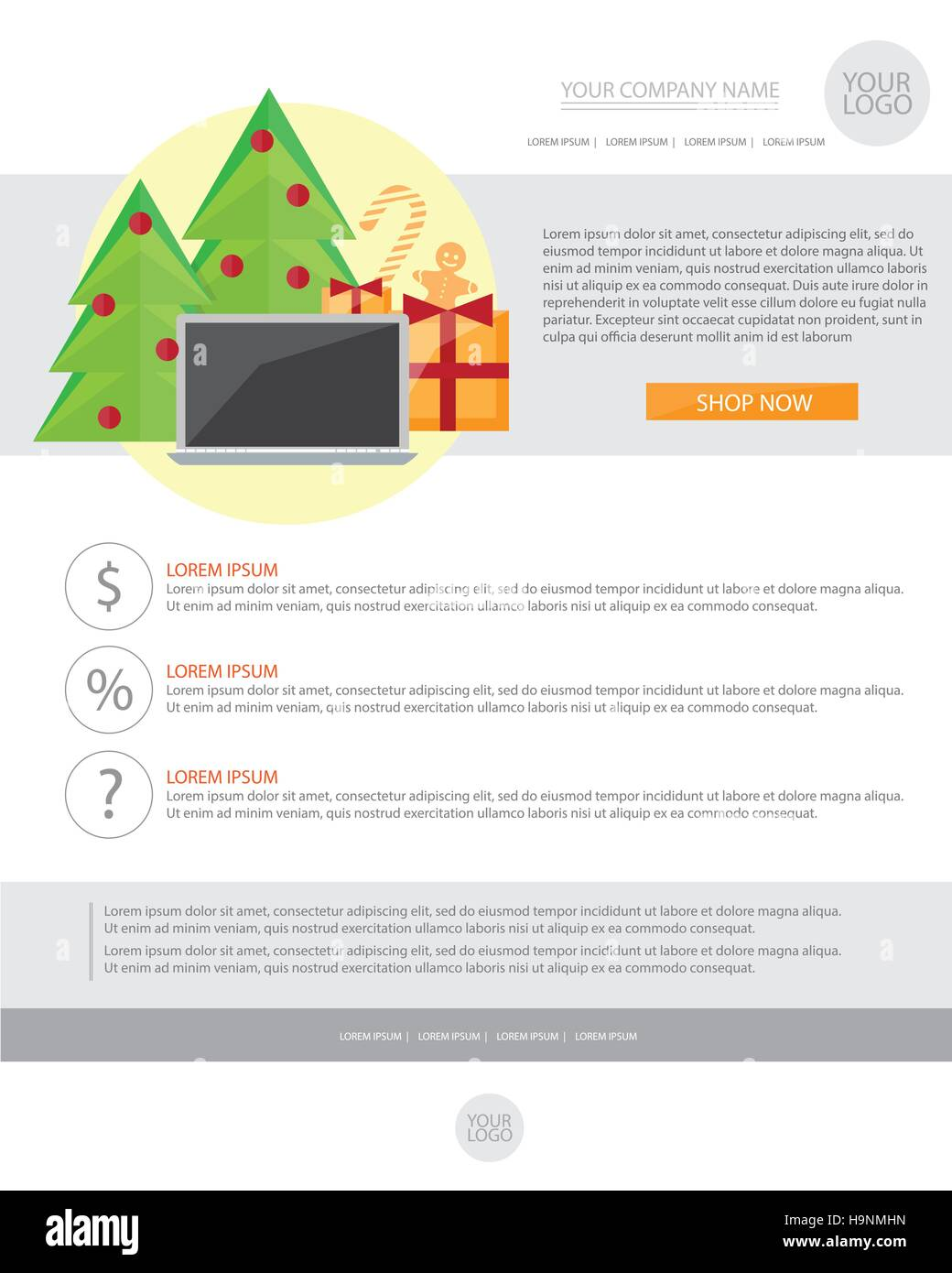 Happy new year holiday greeting email template in flat style vector happy new year holiday greeting email template in flat style vector illustration m4hsunfo