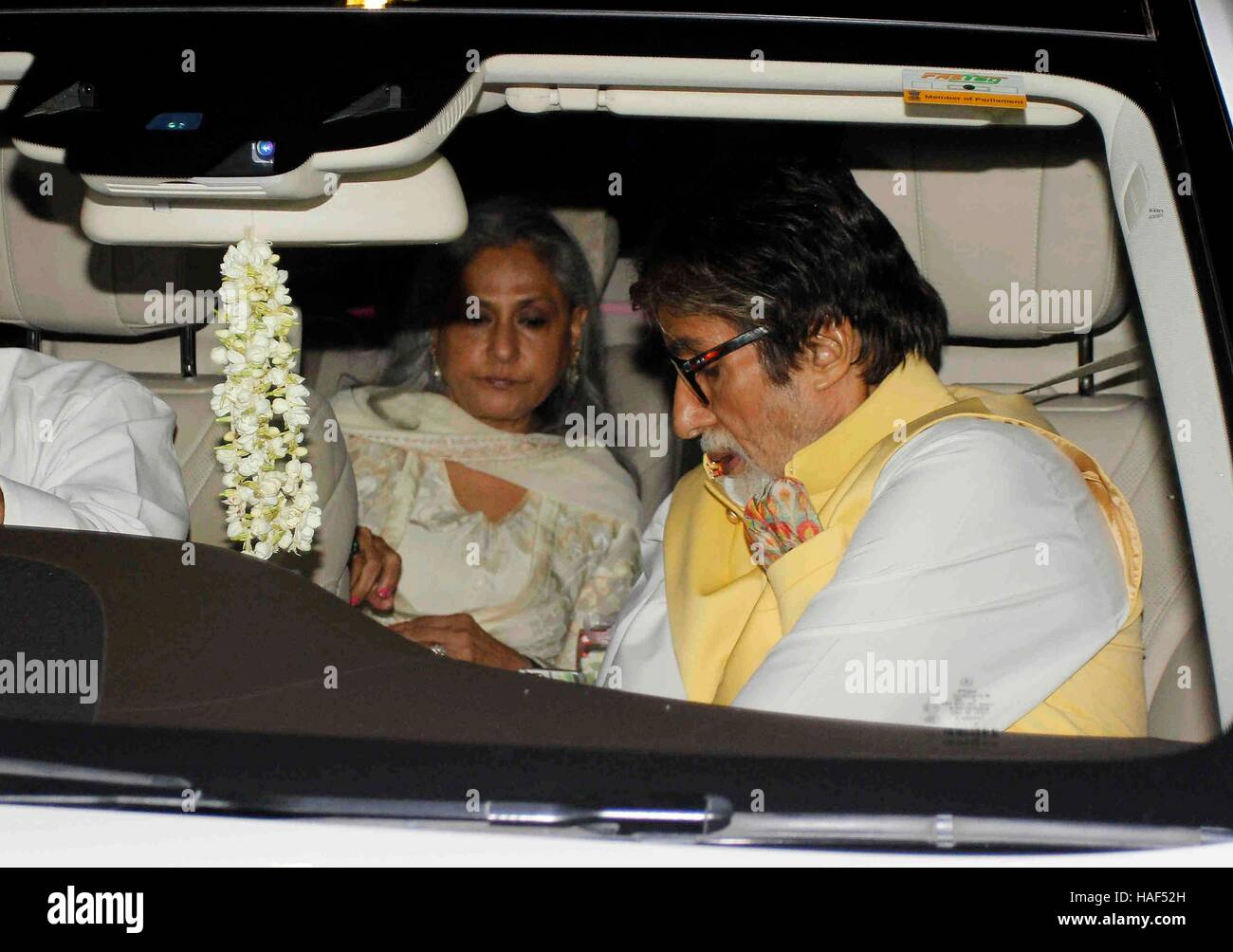 Bollywood actor Amitabh Bachchan with his wife Jaya Bachchan during Rima Jain 60th birthday celebration in Mumbai - Stock Image